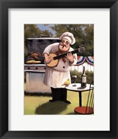 Framed Barbecue Chef and Banjo
