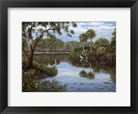 Framed Three Cranes Swamp