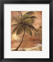Framed Island Palm III