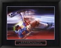 Framed Opportunity-Soccer