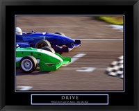 Drive-Race Car Framed Print