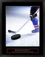 Breakaway-Slap Shot Framed Print
