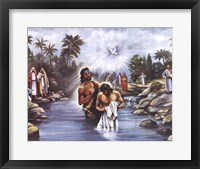 Framed White Baptism