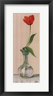 Framed Red Flower In Vase
