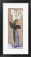 Framed White Flower In Purple Vase