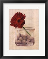 Framed Red Flower In a Bowl
