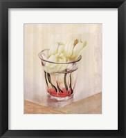 Framed White Flowers In Glass