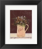 Framed White Yellow Flowers In Pitcher
