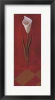 Framed White Cala Lily