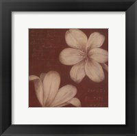 Framed Tan Flowers