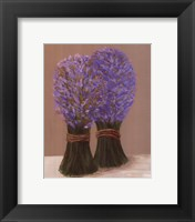 Framed Purple Flowers In String