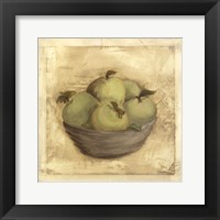 Framed Bowl Of Apples