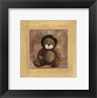Lion With Blue Bow Framed Print