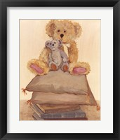 Two Bears On Pillows Framed Print