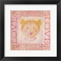 Framed Loves Kisses - Girl