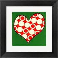 Framed Red Circled Heart