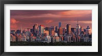Framed Sunrise Over New York