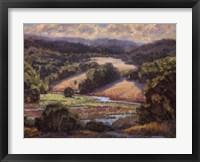 Framed Golden Foothills I