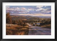 Framed Lavender Road
