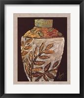 Sumach Leaf Pottery Framed Print