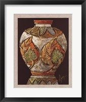 Birch Leaf Pottery Framed Print