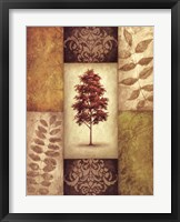 Framed Red Magnolia Tree