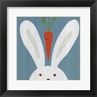 Peek-A-Boo I Rabbit Framed Print