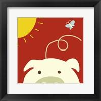 Peek-A-Boo IV Pig Framed Print