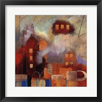 City Houses I Framed Print