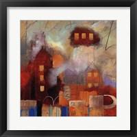 City Houses I Framed Print