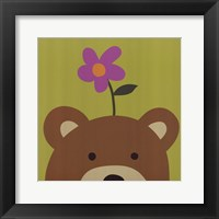 Peek-A-Boo VI Bear Framed Print
