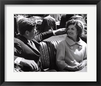 Framed Jfk And Jacqueline, 1961