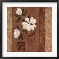 Magnolia Stripe I Framed Print