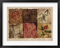 Oriental Medley II Framed Print