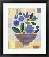 Framed Blue Flower Vase