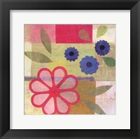 Framed Pink Pattern Flower