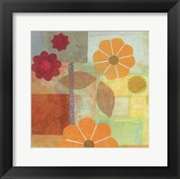 Framed Yellow Pattern Flower