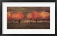 Red Trees II Framed Print