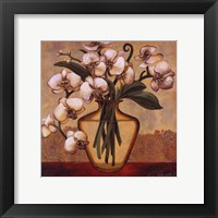 White Autumn Orchids Framed Print