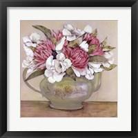 Framed Floral Teapot II