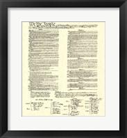 Framed Constitution (Document)