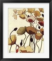 Pavots Ondule I Framed Print