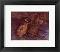 Framed Pair of Boots, c.1887