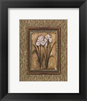 Framed Peaceful Flowers I - Mini
