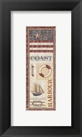 Coastal I - Mini Framed Print