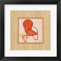 Retro Patio Chair I Framed Print