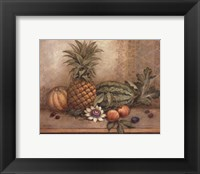 Framed Pineapple And Passion Flower - Mini
