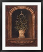 Olive Topiary Niches I Framed Print