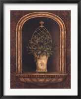 Olive Topiary Niches II Framed Print