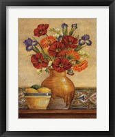 Salsa Poppies Framed Print